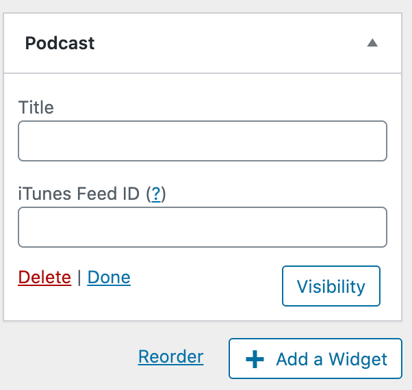 Podcast Widget