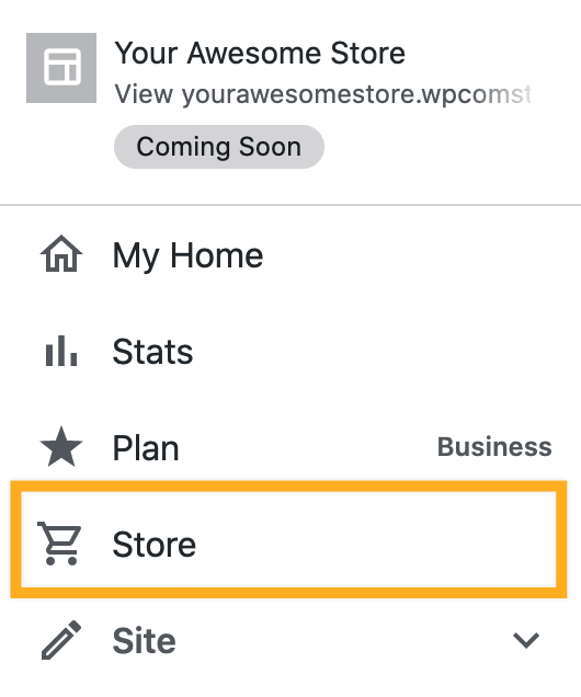 My Site → Store, after installing your first plugin.