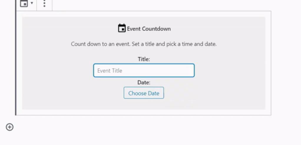 Event Countdown block