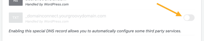 Enable Domain Connect