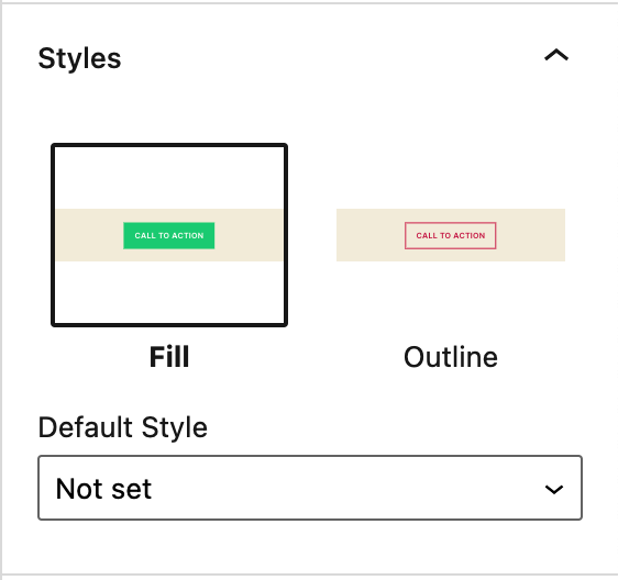 Buttons block styles