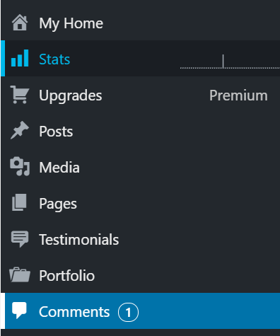 Comments area in menu